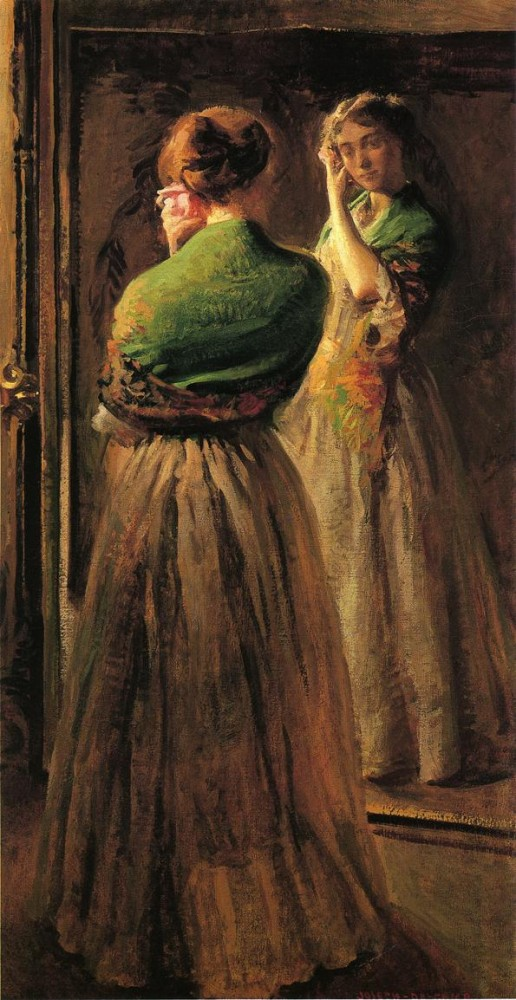 Girl with a Green Shawl by Joseph Rodefer DeCamp