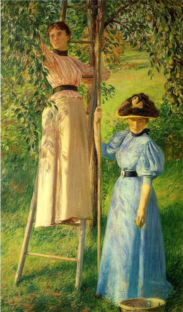The Pear Orchard by Joseph Rodefer DeCamp