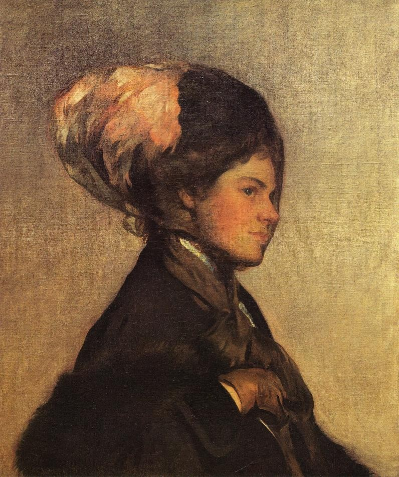 The Pink Feather aka The Brown Veil by Joseph Rodefer DeCamp
