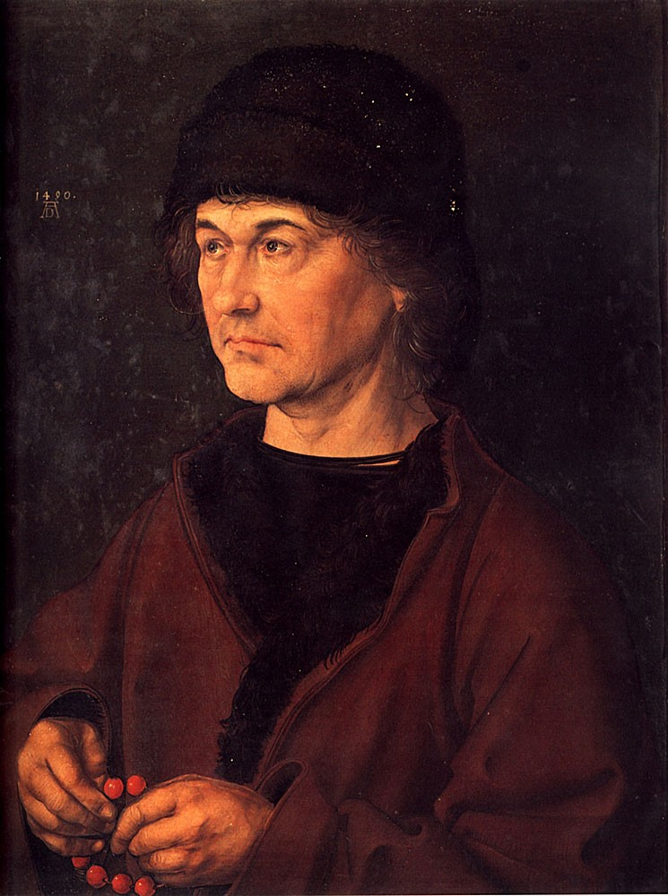 Portrait of Albrecht Durer the Elder by Albrecht Dürer