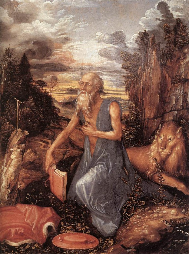 St Jerome in the Wilderness by Albrecht Dürer