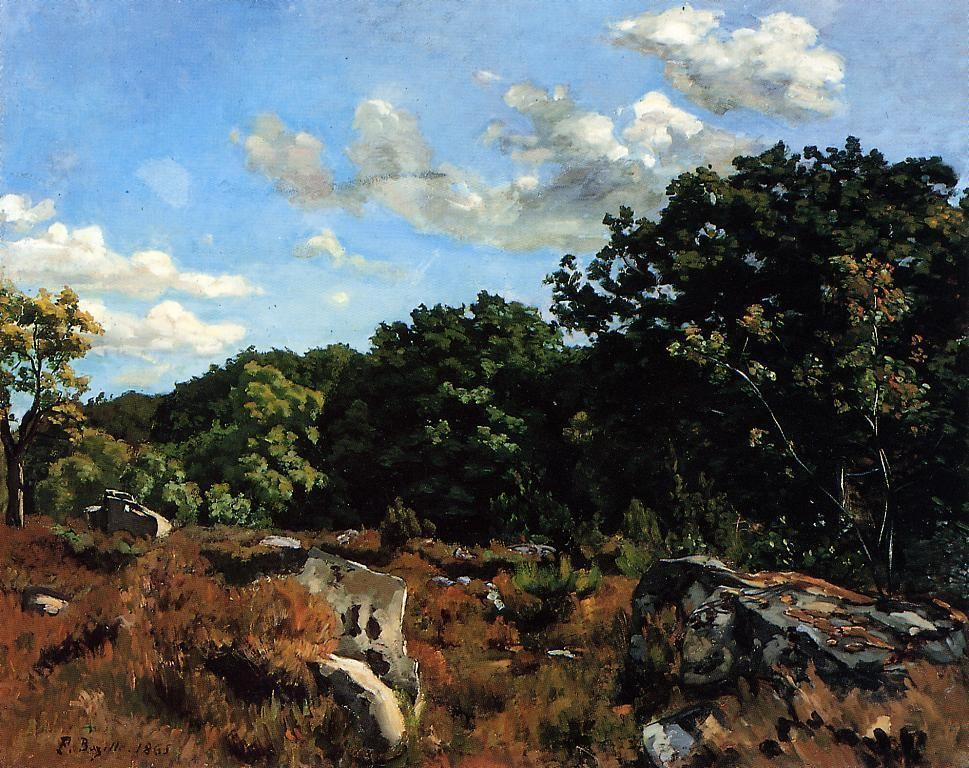 The Banks Of The Lez by Jean Frédéric Bazille