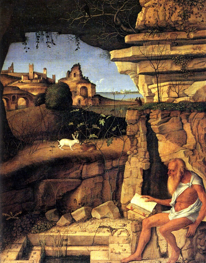 St Jerome Reading by Giovanni Bellini