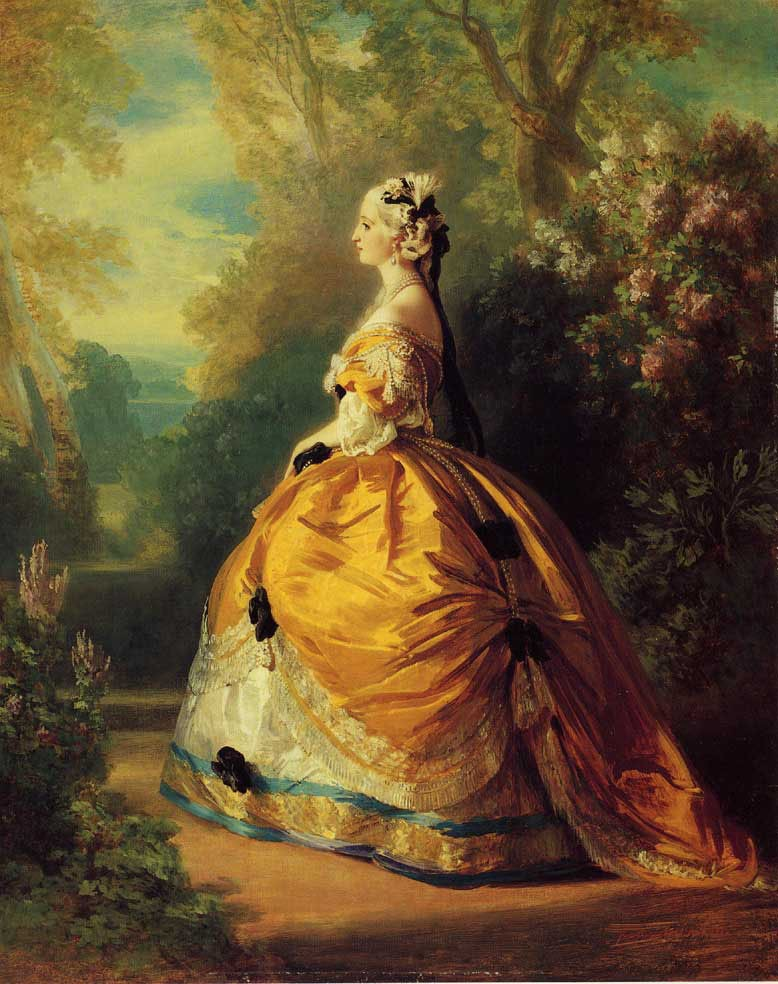 The Empress Eugenie a la Marie Antoinette by Franz Xaver Winterhalter
