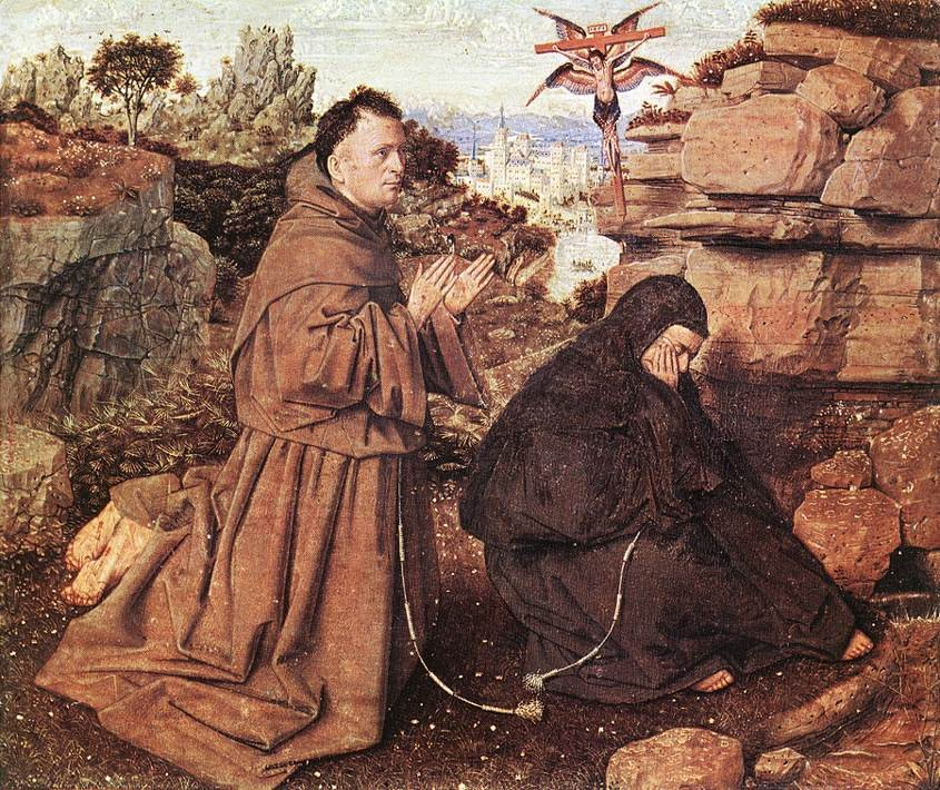 Stigmatization of St Francis by Jan van Eyck