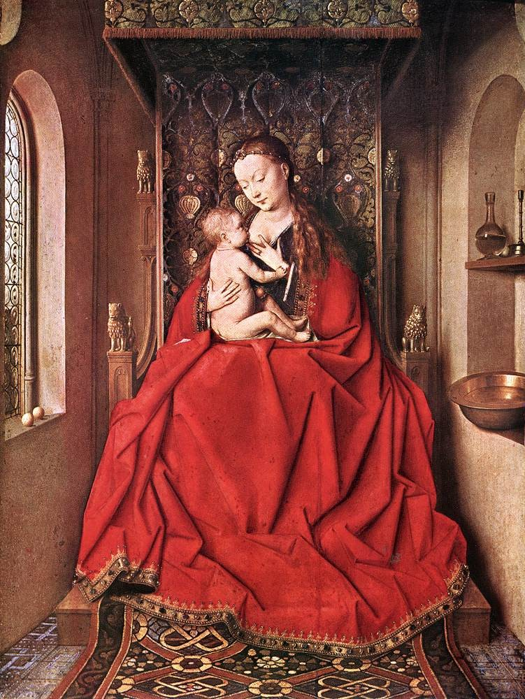 Suckling Madonna Enth by Jan van Eyck