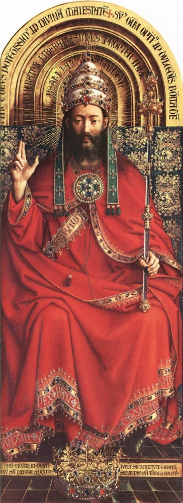 The Ghent Altarpiece God Almighty by Jan van Eyck
