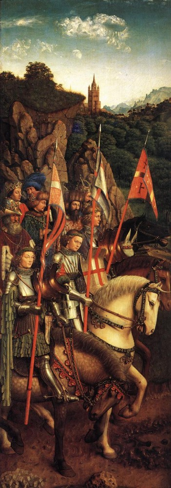 The Ghent Altarpiece The Soldiers of Christ by Jan van Eyck