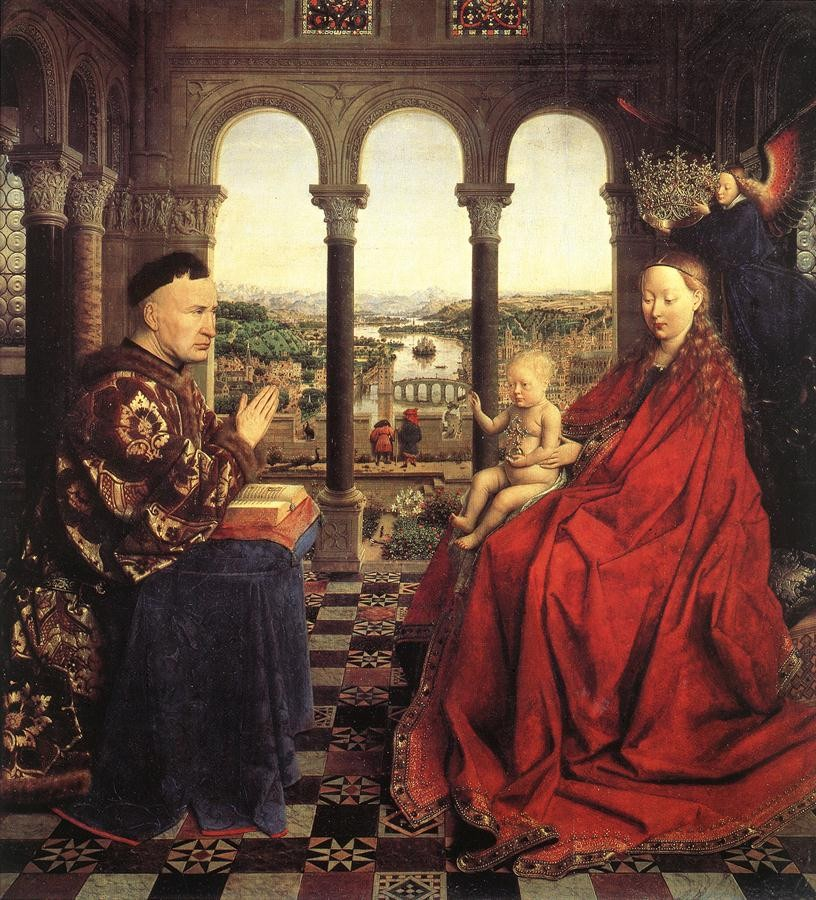 The Virgin of Chancellor Rolin by Jan van Eyck