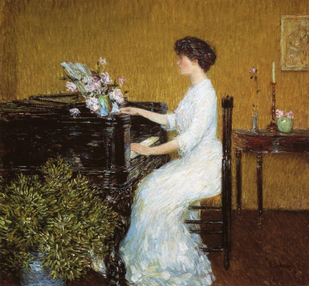 At the Piano by Frederick Childe Hassam