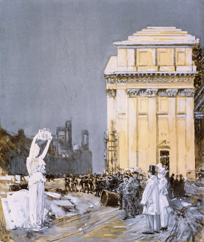 Scene at the World's Columbian Exposition, Chicago, Illinois by Frederick Childe Hassam