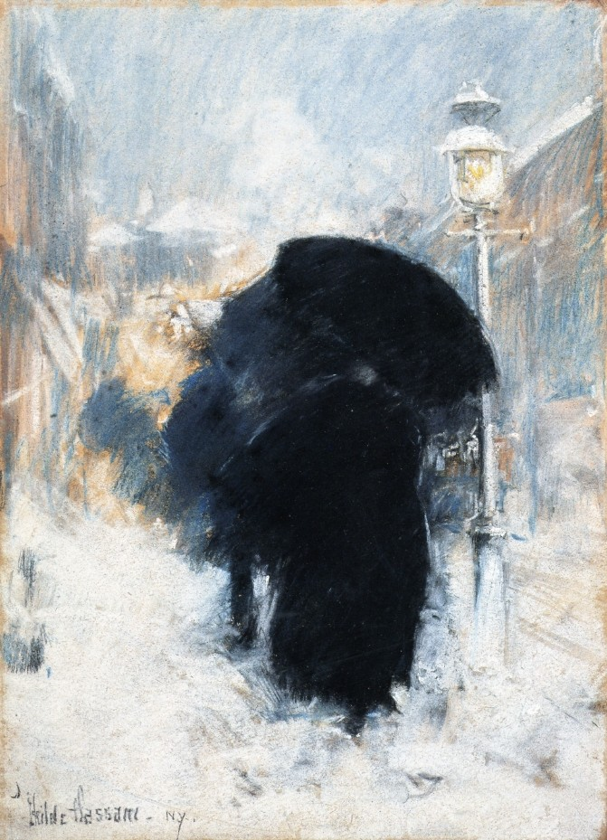 A New York Blizzard by Frederick Childe Hassam