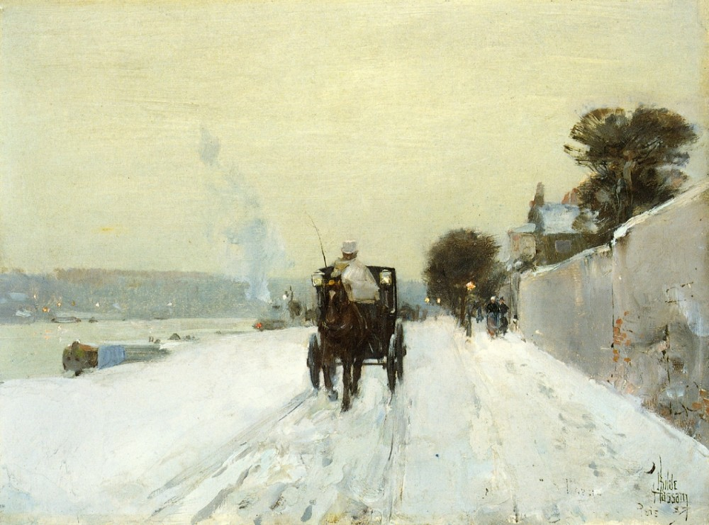 Along the Seine by Frederick Childe Hassam