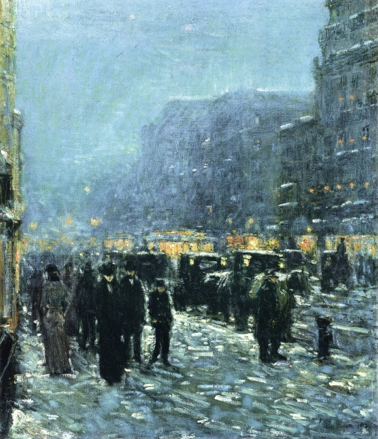 Broadway and 42nd Street by Frederick Childe Hassam
