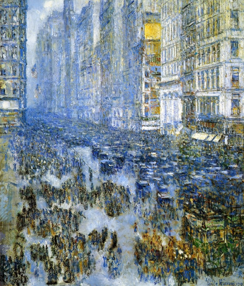 Fifth Avenue in Winter by Frederick Childe Hassam