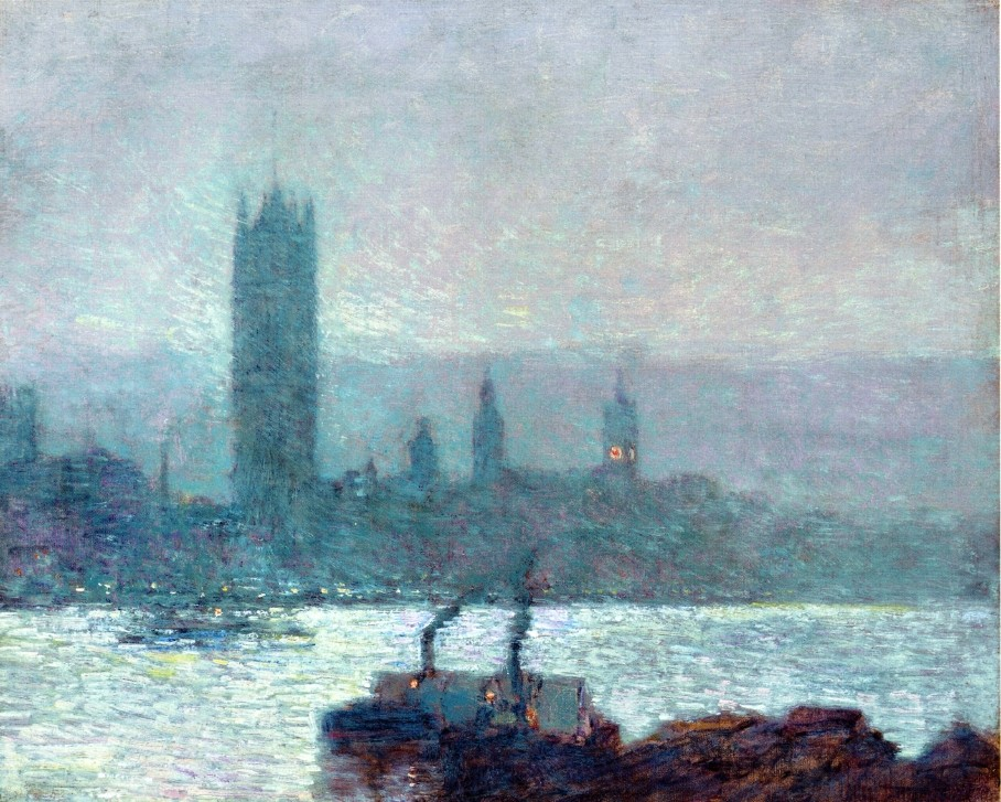 Houses of Parliament, Early Evening by Frederick Childe Hassam