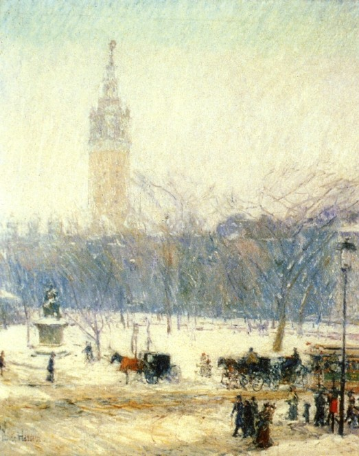 Madison Square - Snowstorm by Frederick Childe Hassam