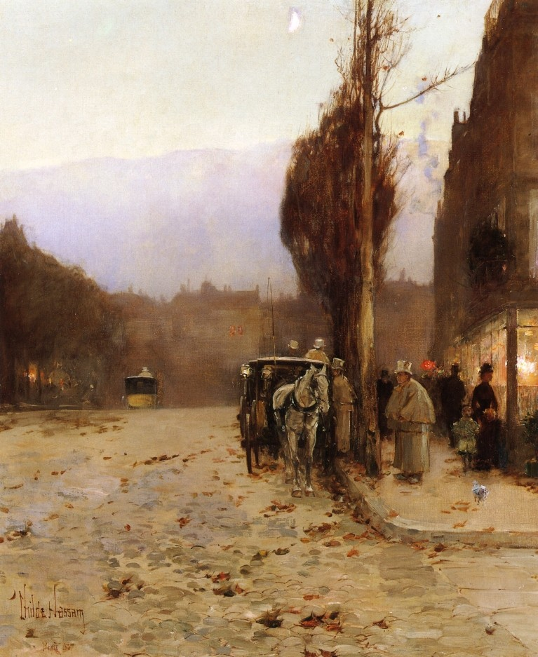 Paris at Twilight by Frederick Childe Hassam