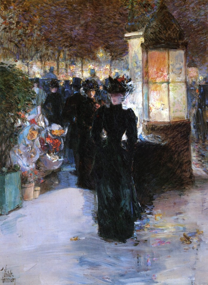 Paris Nocturne by Frederick Childe Hassam