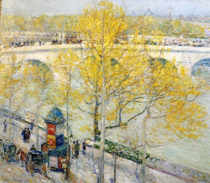 Pont Royal, Paris by Frederick Childe Hassam