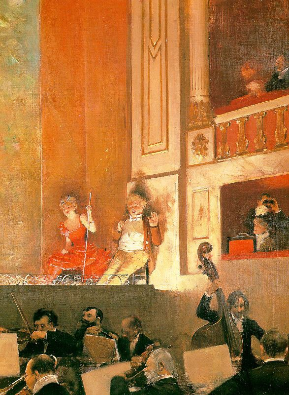 Representation At The Theatre Des Varietes by Jean Béraud