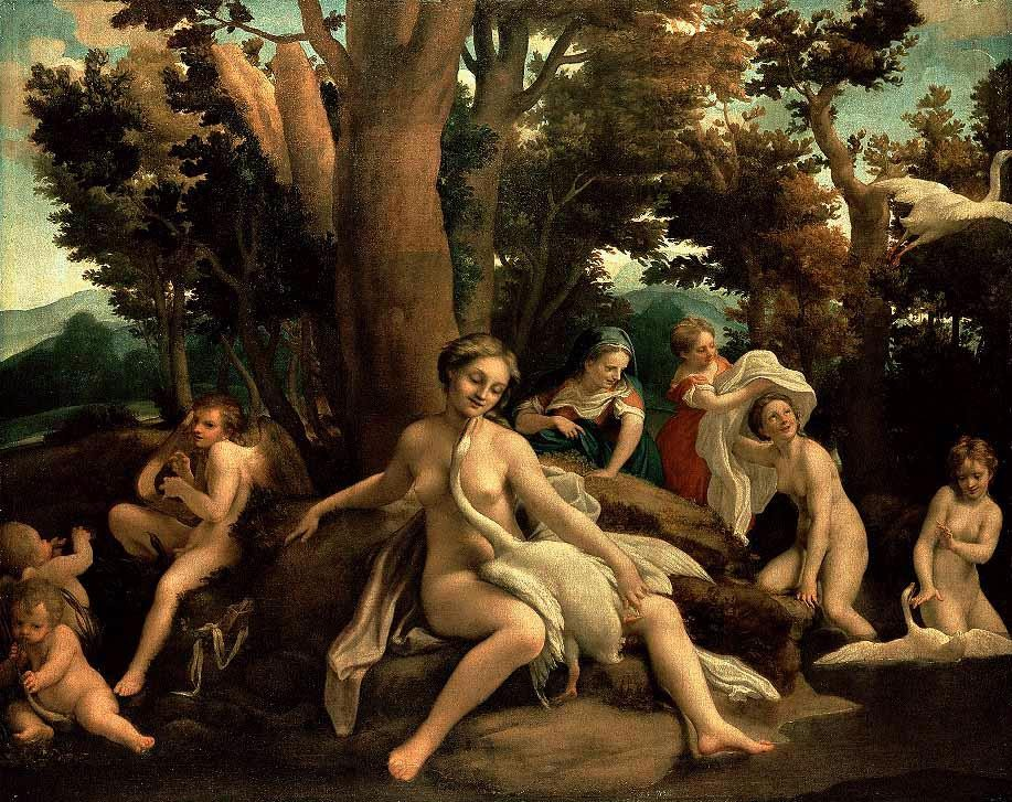 Leda With The Swan by Antonio Allegri da Correggio