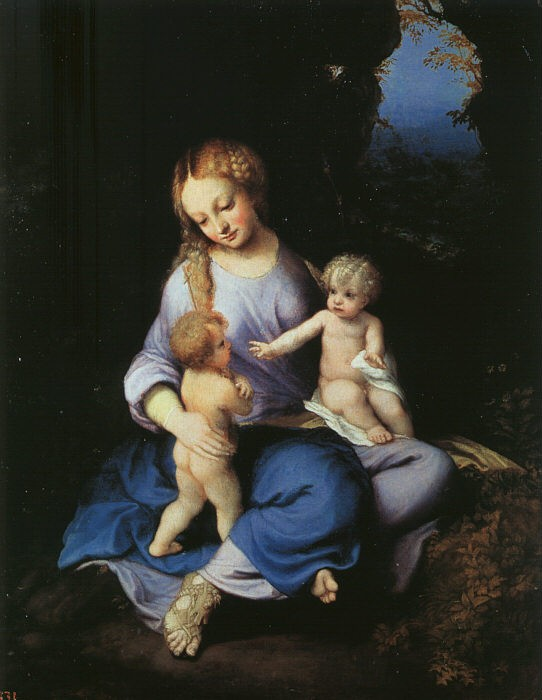 Madonna And Child With The Young Saint John by Antonio Allegri da Correggio