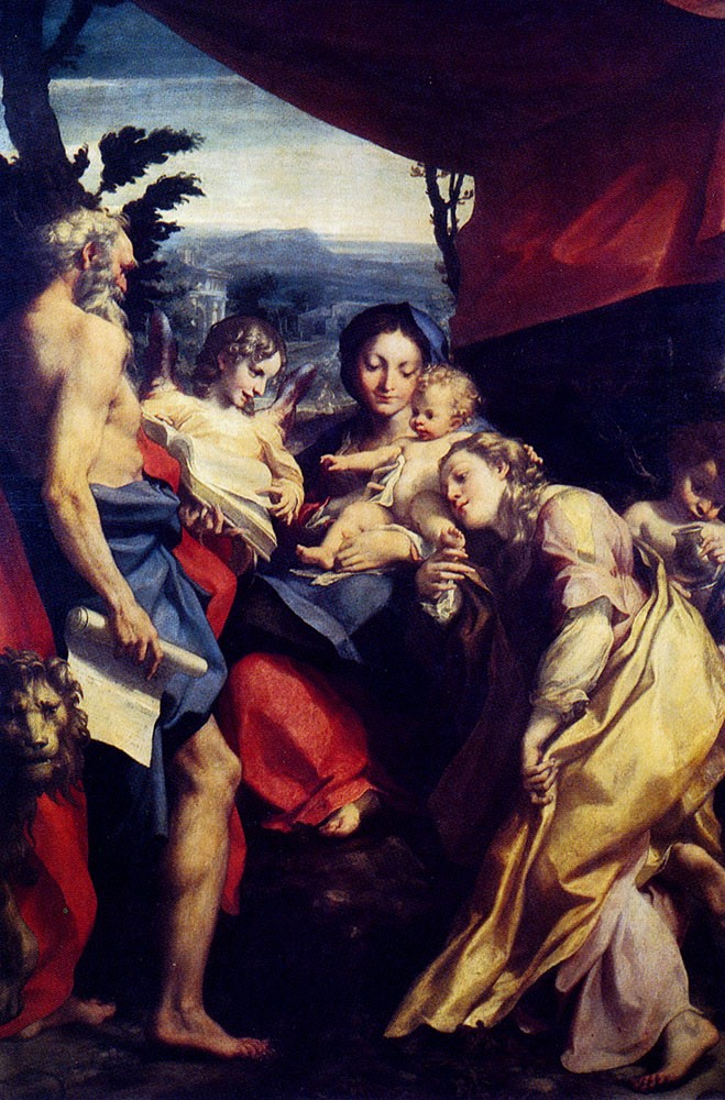 Madonna Of St Jerome by Antonio Allegri da Correggio