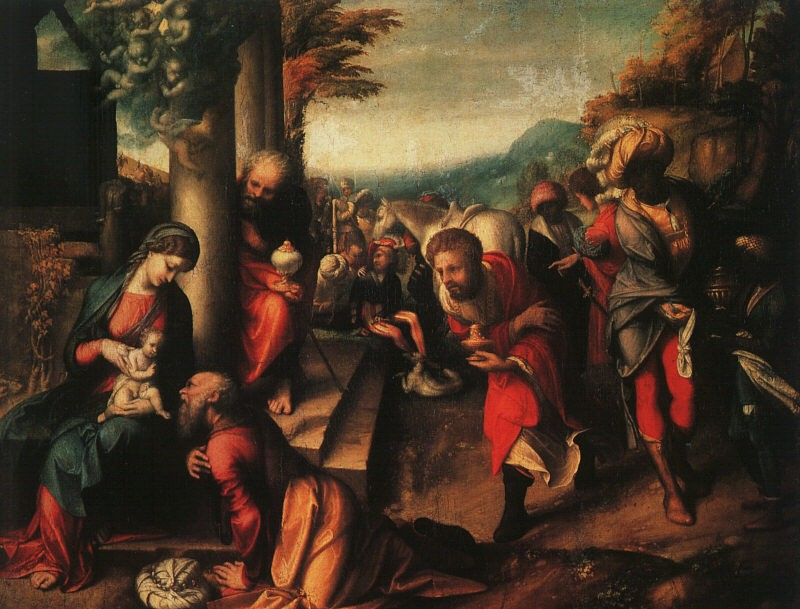 The Adoration Of The Magi by Antonio Allegri da Correggio