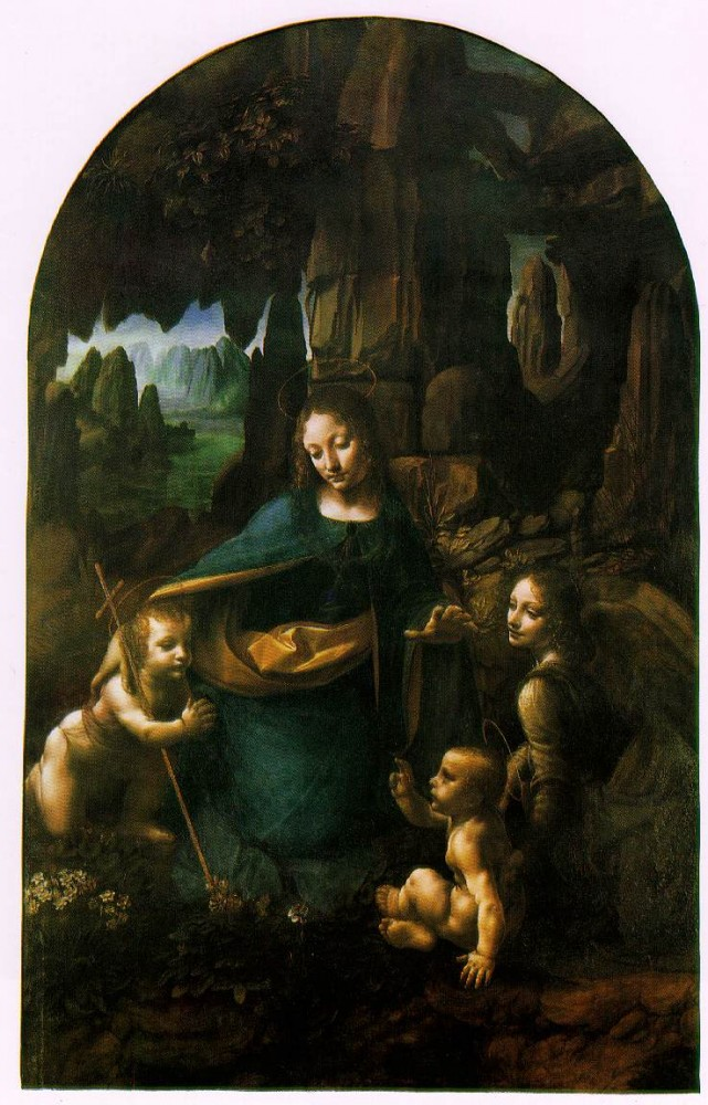 Virgin of the Rocks London by Leonardo di ser Piero da Vinci