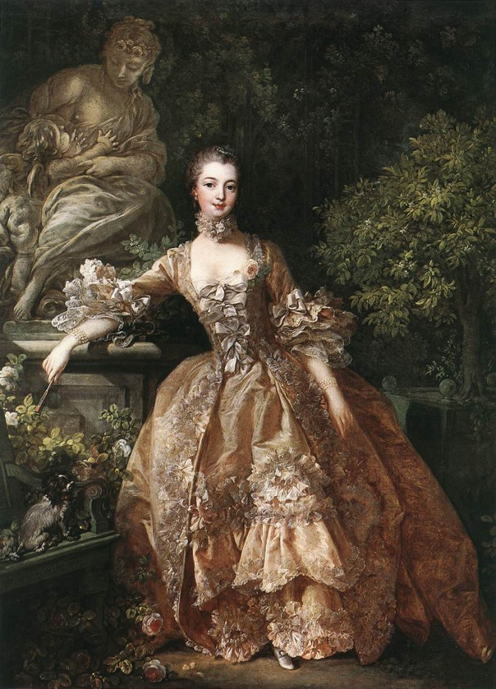 Portrait Of Marquise De Pompadour by François Boucher