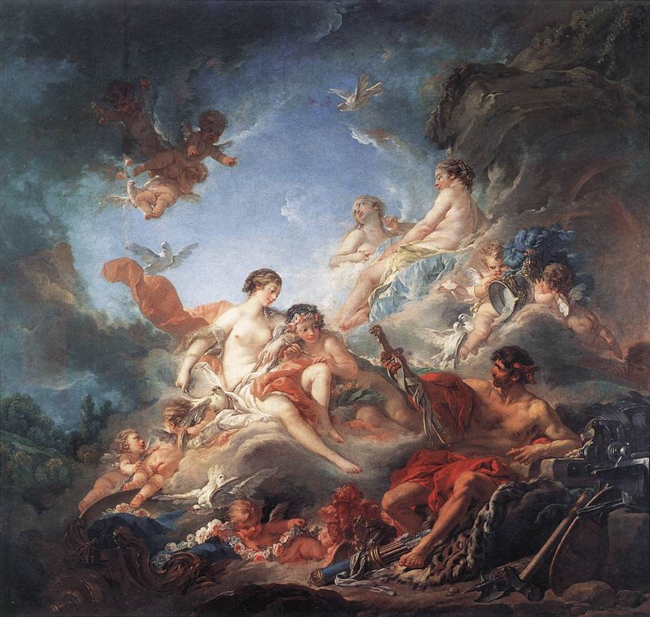 Vulcan Presenting Venus With Arms For Aeneas by François Boucher