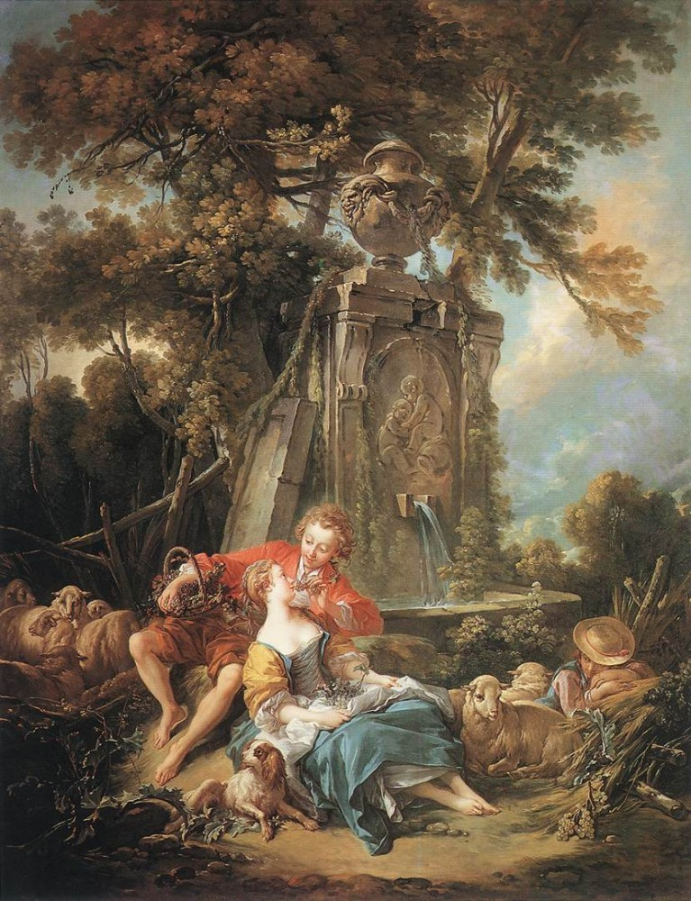 An Autumn Pastoral by François Boucher