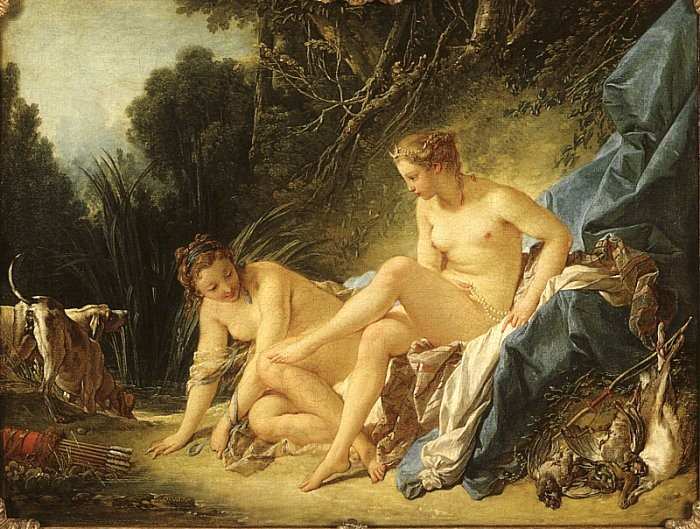 Diana Resting After Her Bath by François Boucher