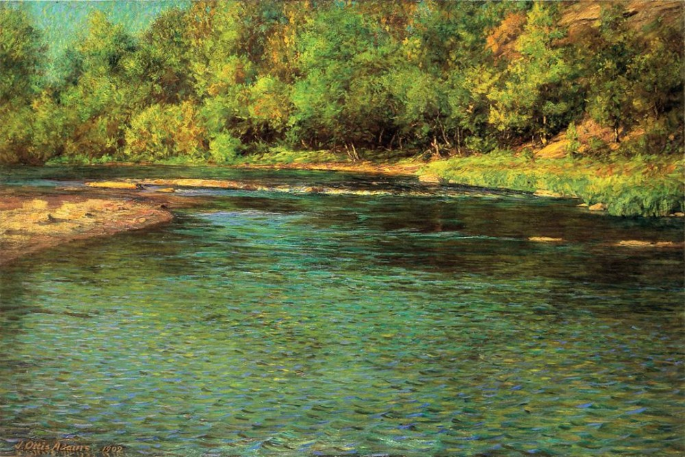 Irridescence of a Shallow Stream by J. Ottis Adams