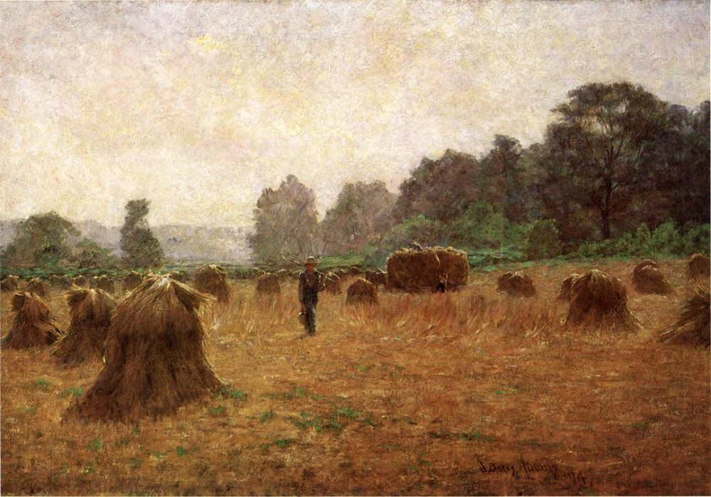 Wheat wain Afield by J. Ottis Adams