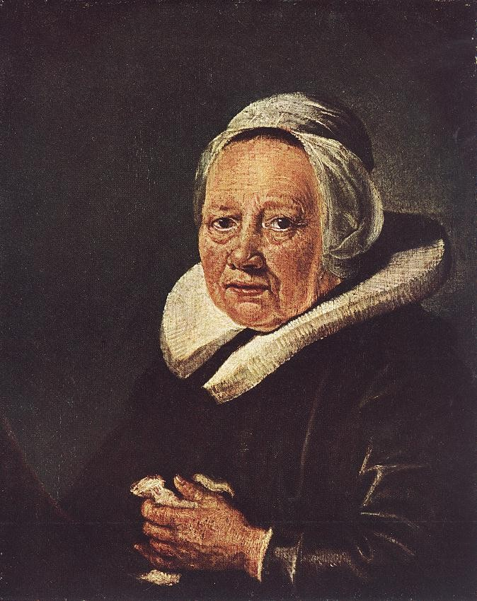 Portrait Of An Old Woman by Gerrit (Gerard) Dou