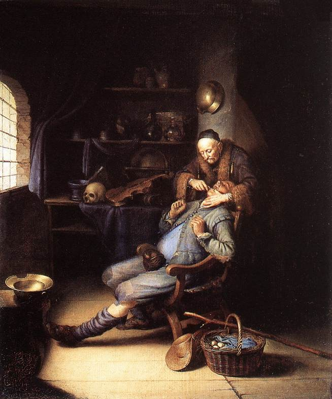 The Extraction Of Tooth by Gerrit (Gerard) Dou