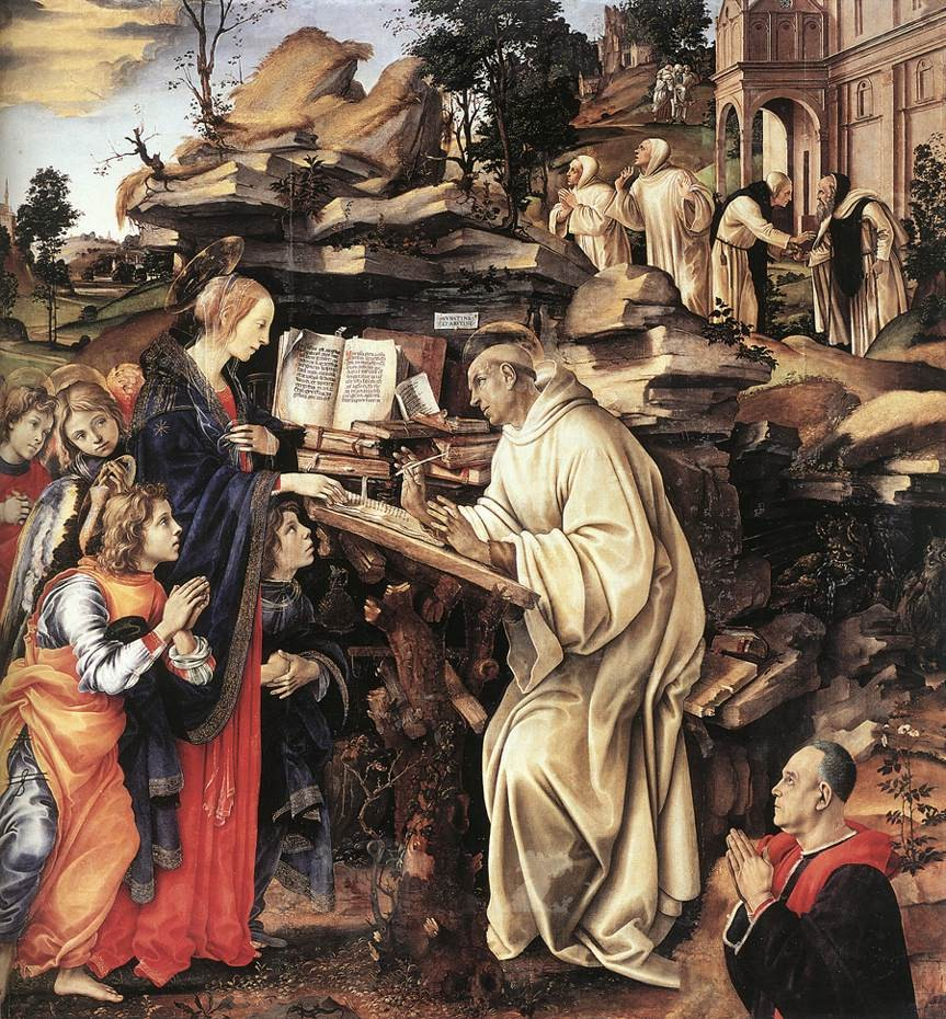 Apparition Of The Virgin To St Bernard by Filippino Lippi