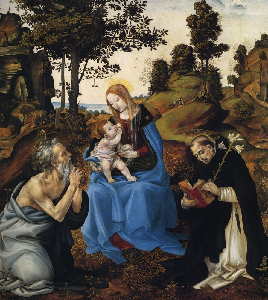 The Virgin And Child With St Jerome And Dominic by Filippino Lippi