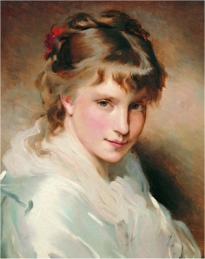 Portrait of an unknown Beauty by Charles Joshua Chaplin