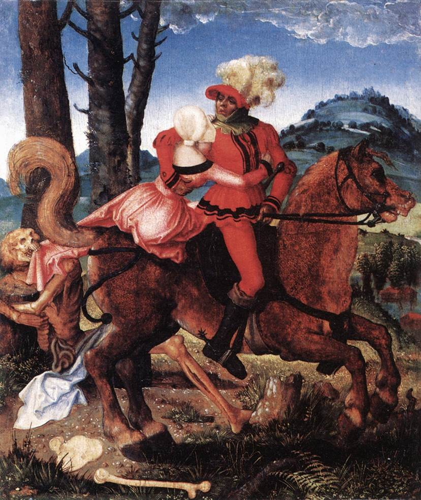 The Knight The Young Girl And Death by Hans Baldung Grien (Grün)