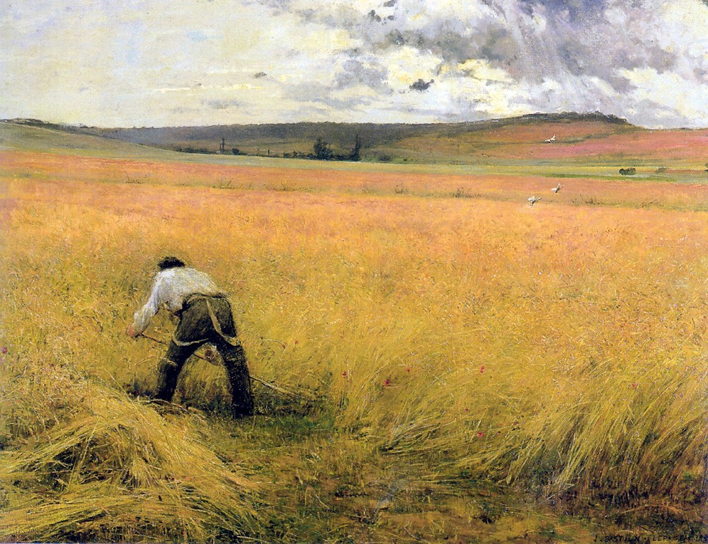 At Harvest Time by Jules Bastien-Lepage