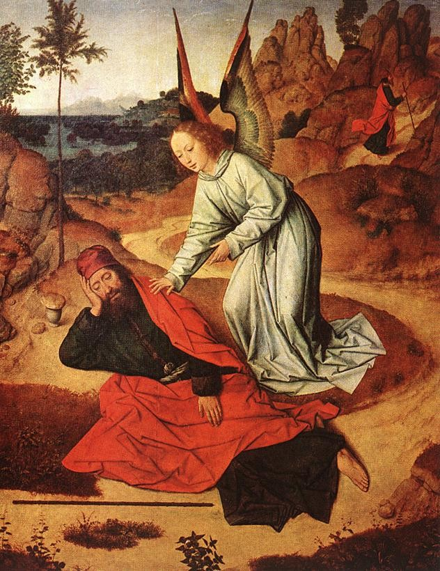 Prophet Elijah In The Desert by Dieric Bouts