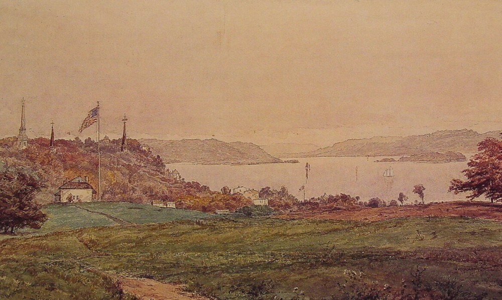 Looking North on the Hudson by Jasper Francis Cropsey