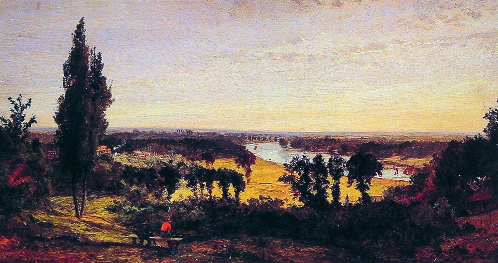 Richmond Hll and the Thames London by Jasper Francis Cropsey