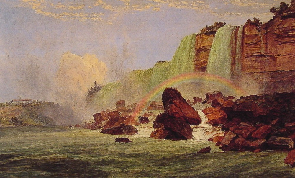 Niagara Falls with View of Clifton House by Jasper Francis Cropsey