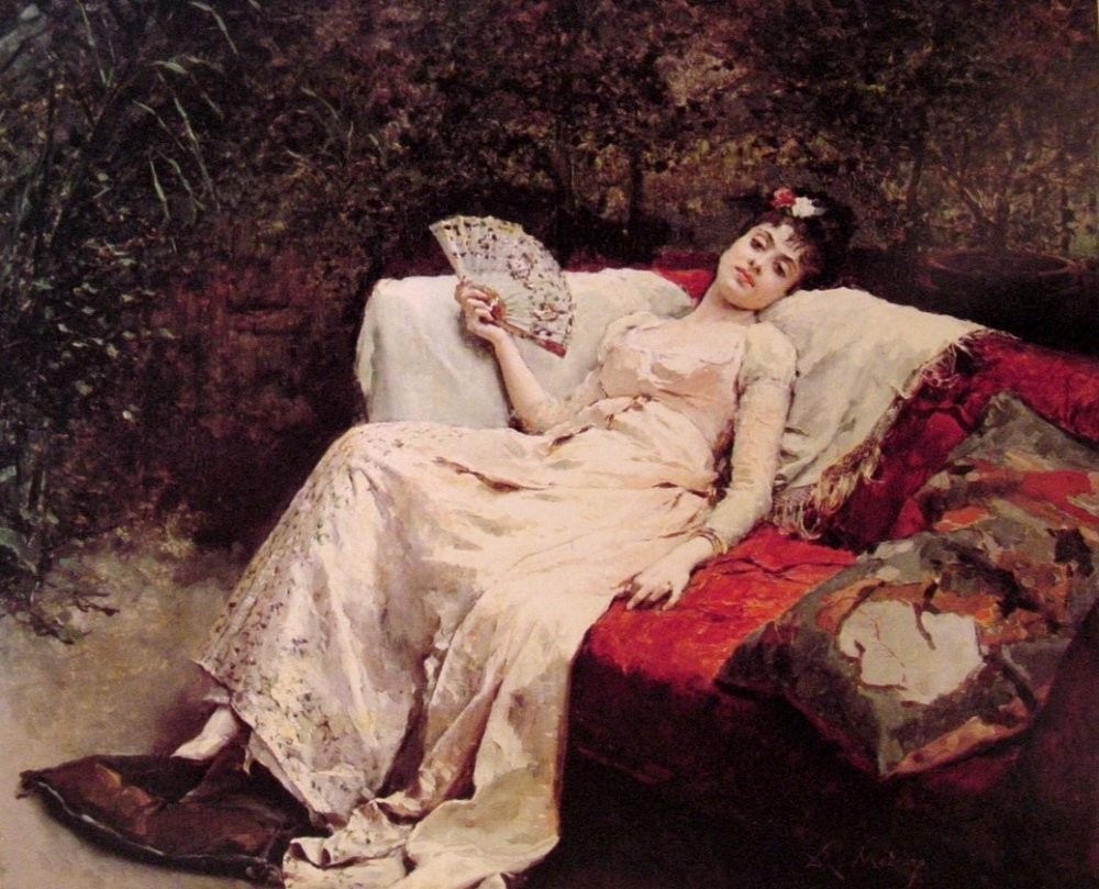 Female Portrait by Raimundo de Madrazo y Garreta