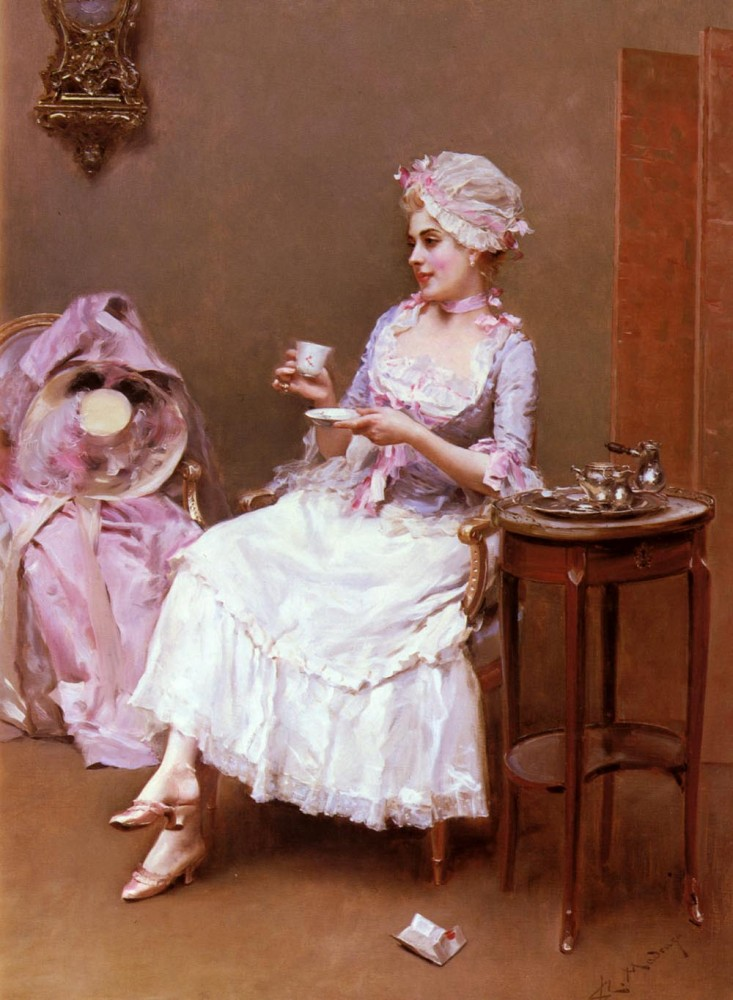 Hot Chocolate by Raimundo de Madrazo y Garreta