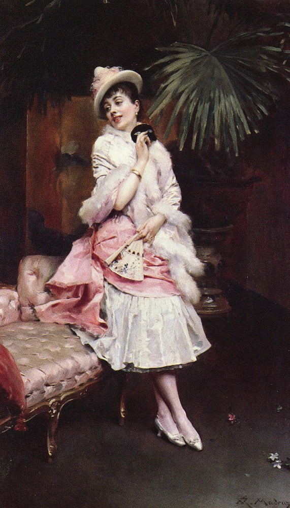 Lady With A Mask by Raimundo de Madrazo y Garreta